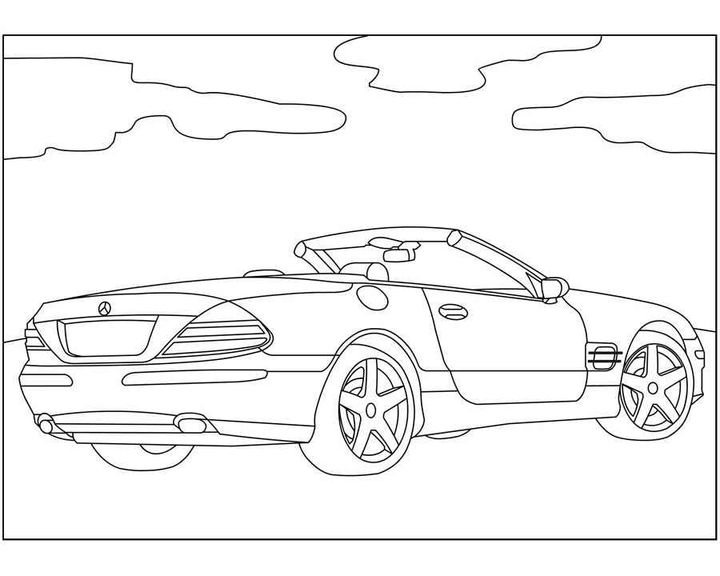 Раскраска Mercedes-Benz M-Class | Раскраски машины