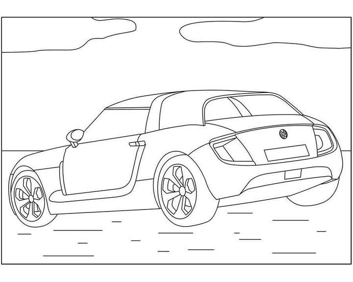 раскраска New Beetle раскраски машины