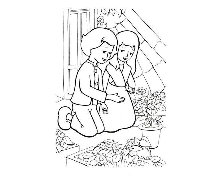 раскраска кай и герда на балконе раскраски снежная королева