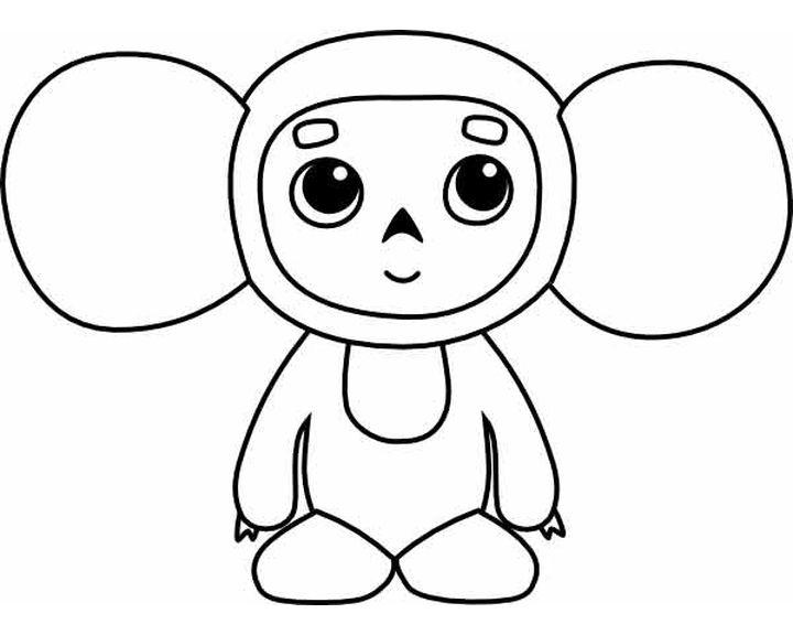 Чебурашка картинки для детей нарисованные