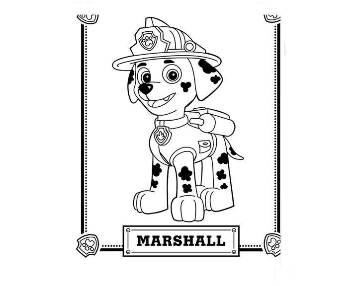 раскраска маршал картина раскраски щенячий патруль