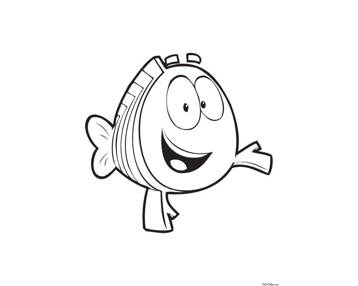 Раскраска Рыбка гуппи | Раскраски Гуппи и пузырики