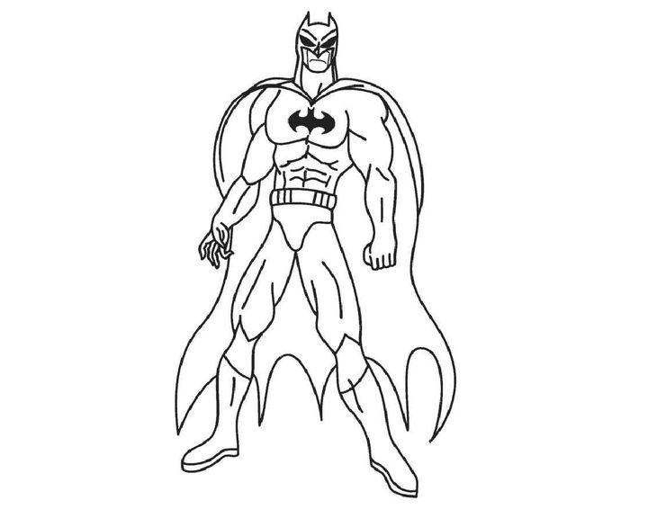 Бэтмен рисунки раскраски