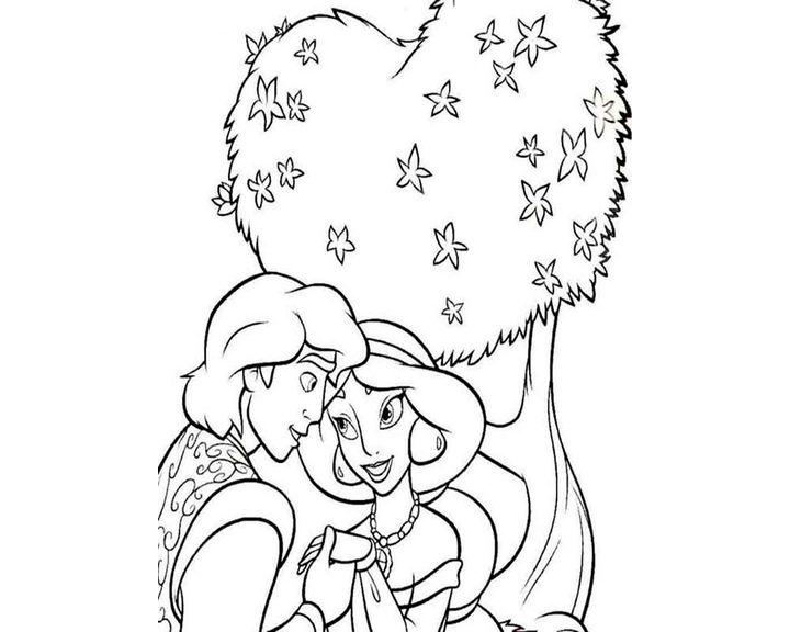 раскраска жасмин и алладин в саду раскраска принцесса жасмин