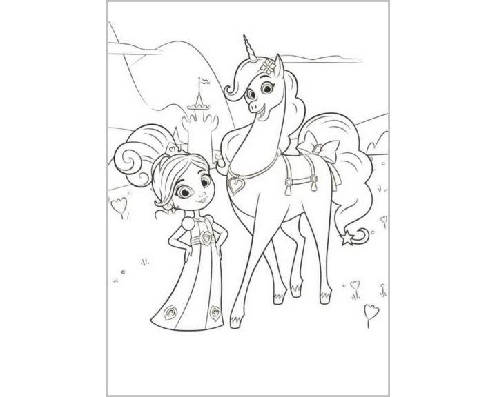 Нелла и ее лощадь|Раскраски Нелла отважная принцесса