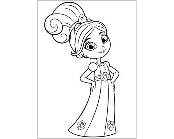 Нелла|Раскраски Нелла отважная принцесса