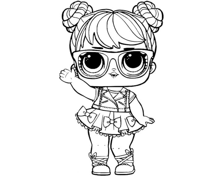 раскраски куклы Lol малышка с прической