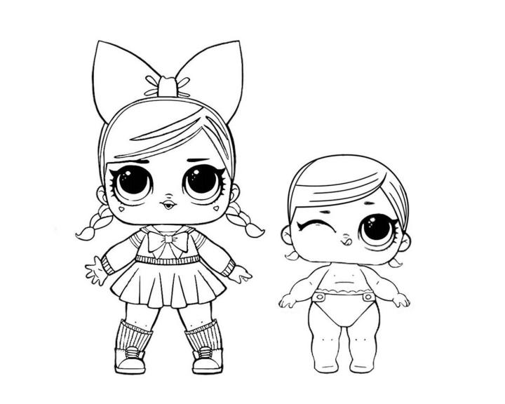 Раскраски куклы ЛОЛ|малышки