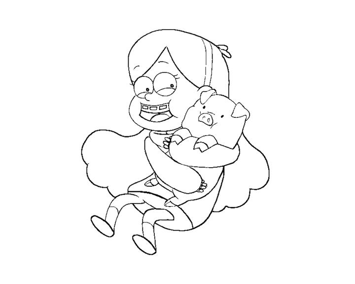 Gravity Falls Personajes Para Colorear: Gravity Falls Pato Para Colorear