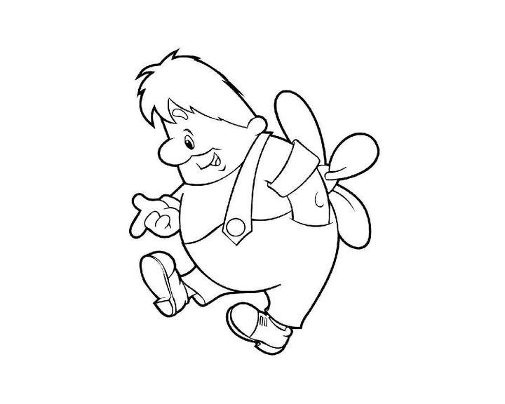 всех раскраска к сказке малыш и карлсон который живет на крыше далеко