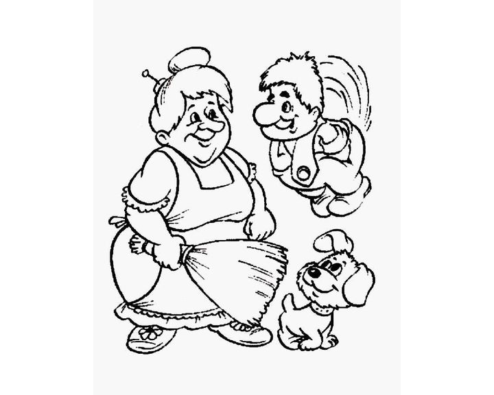 Картинки малыш и карлсон черно белые