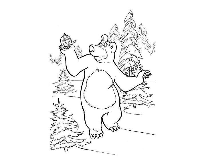 нашем интернет-магазине картинка контур медведя и маши словом, модель это