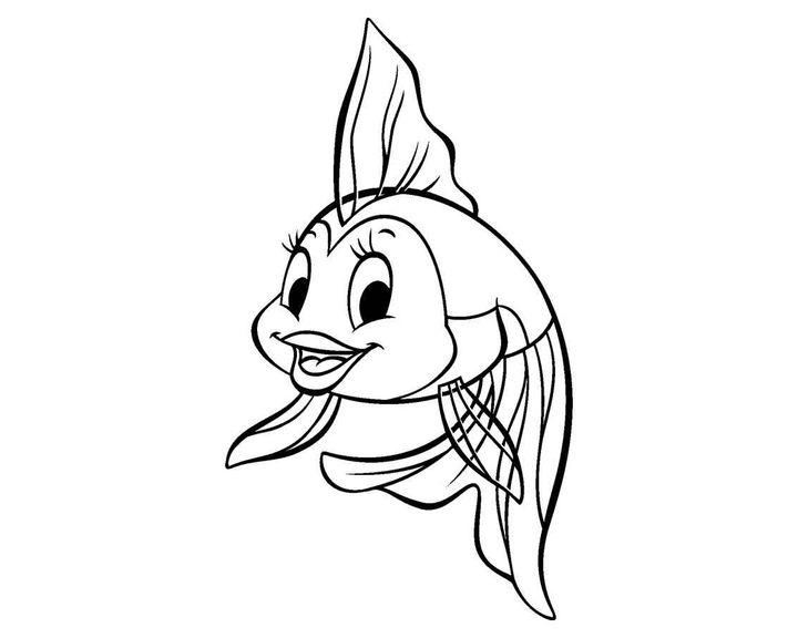 раскраска рыба в аквариуме с замками раскраски рыбы
