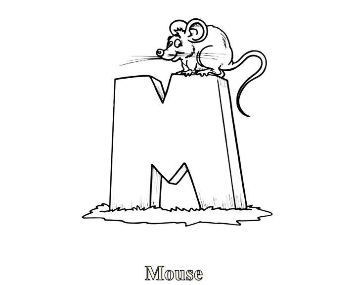 раскраска английская буква M раскраски английский алфавит