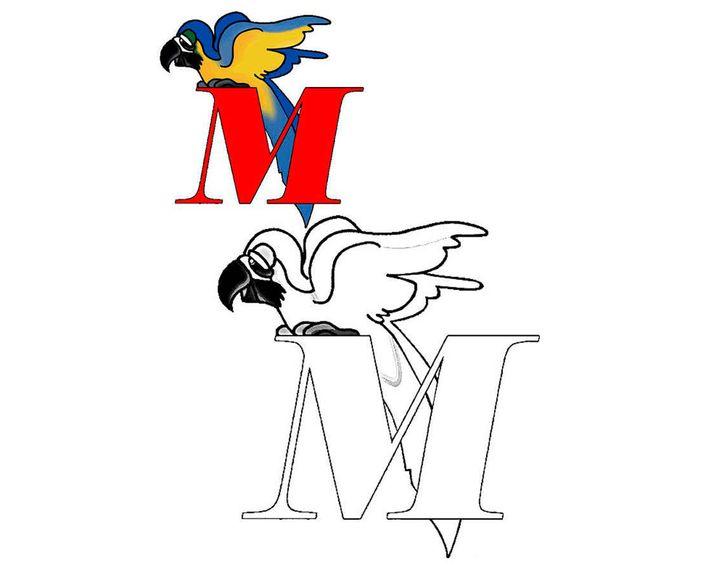 раскраска буква M раскраски английский алфавит