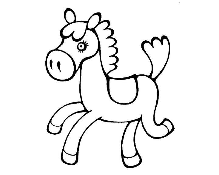 раскраска лошадка детская раскраски лошадь