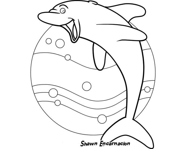Раскраска Акула улыбается | Раскраски Животные