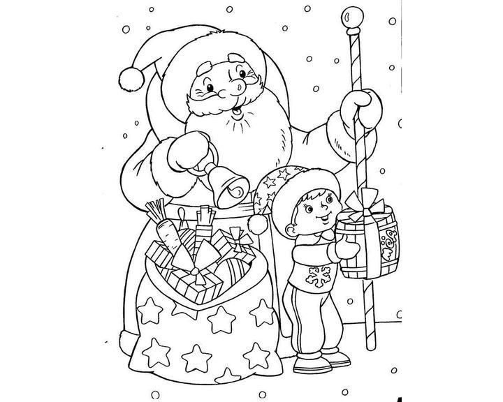 рисунок деду морозу на новый год карандашом фотографии