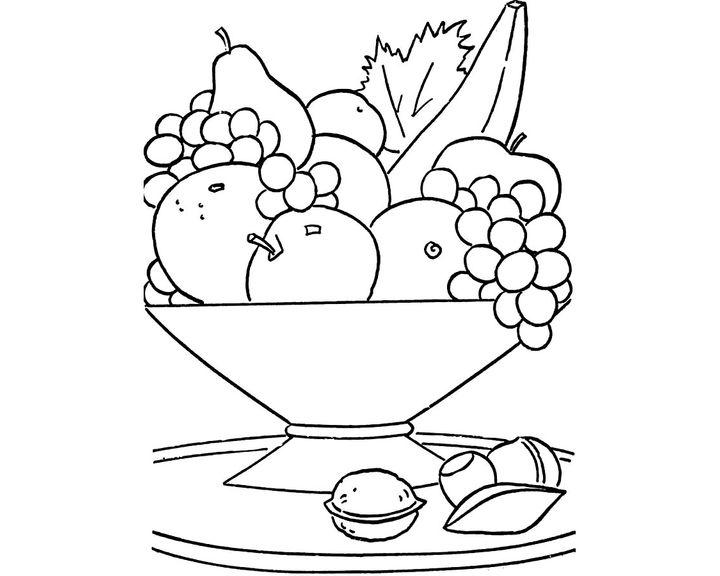 картинки правильное питание раскраски где