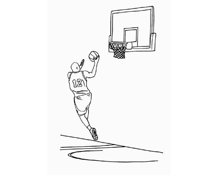 раскраска баскетбол раскраски спорт