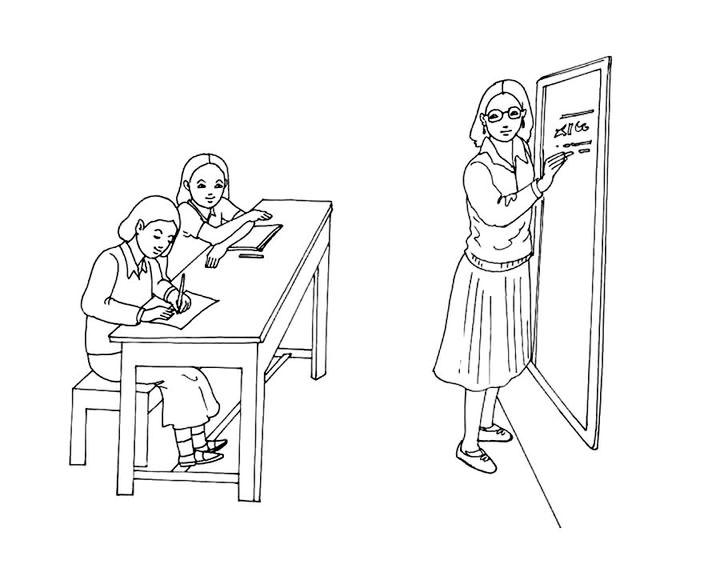 Картинки доча, рисунок школьные будни