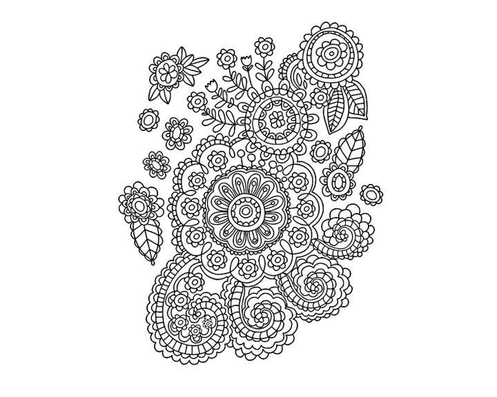 раскраска цветник в узорах раскраски антистресс