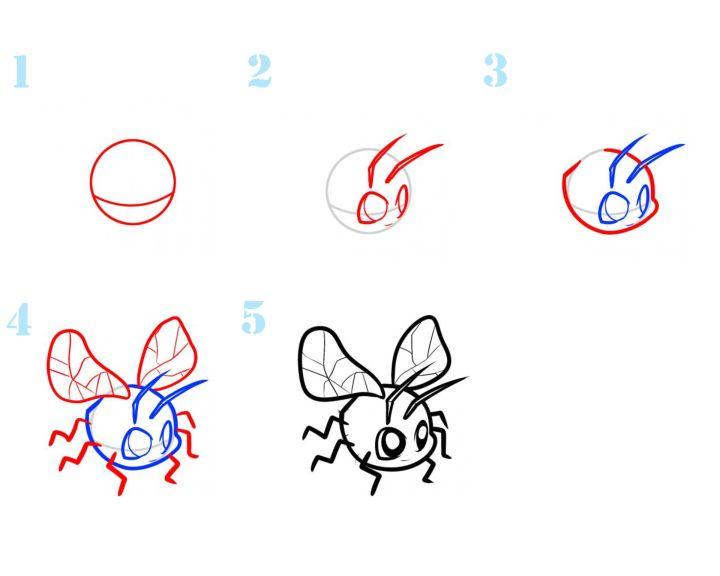 Картинки муха как рисовать