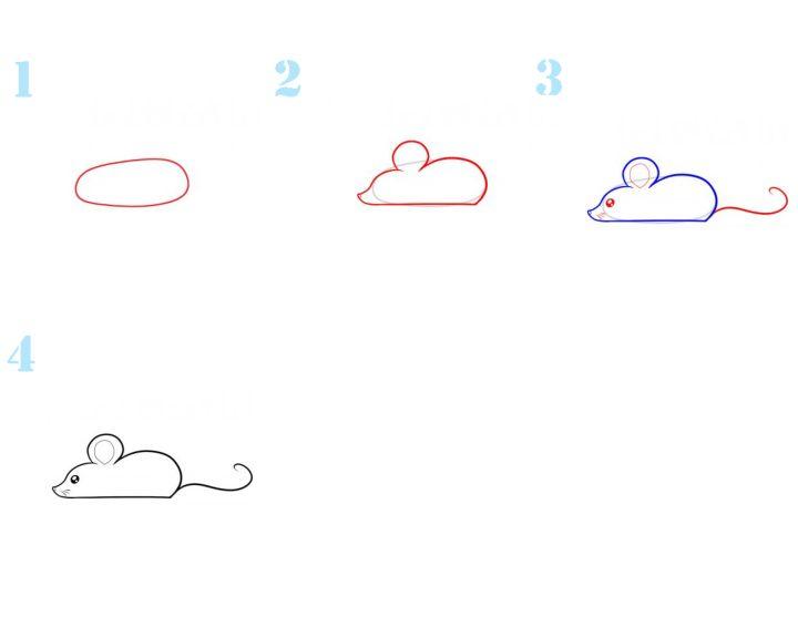 картинки как рисовать мышь поэтапно сделан нейлона застёгивается