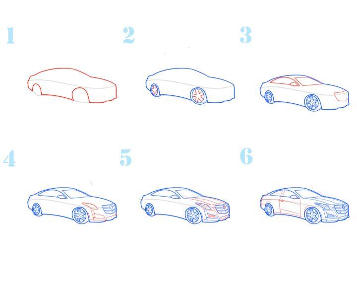 Смотреть картинки как рисуются машины