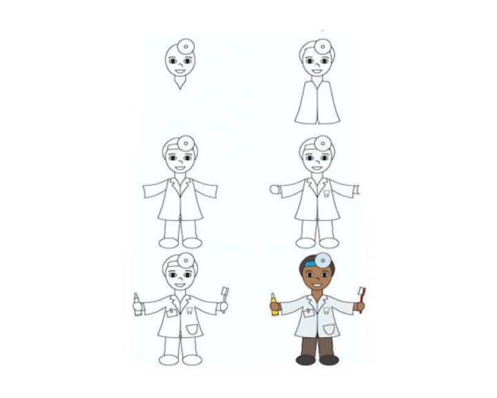 Профессии рисунки карандашом поэтапно для начинающих