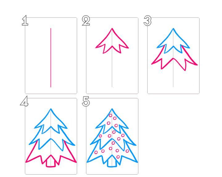 рисовать на новый год картинки поэтапно для начинающих пленку разматываем