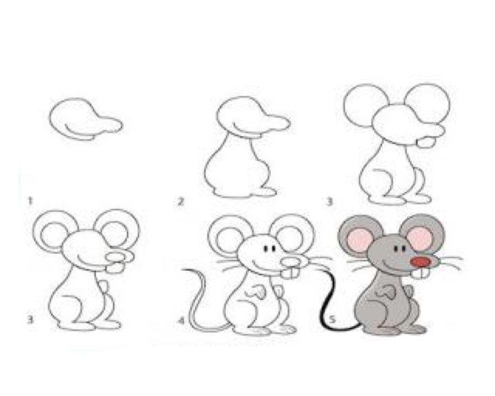 картинки как рисовать мышь поэтапно интерьерах